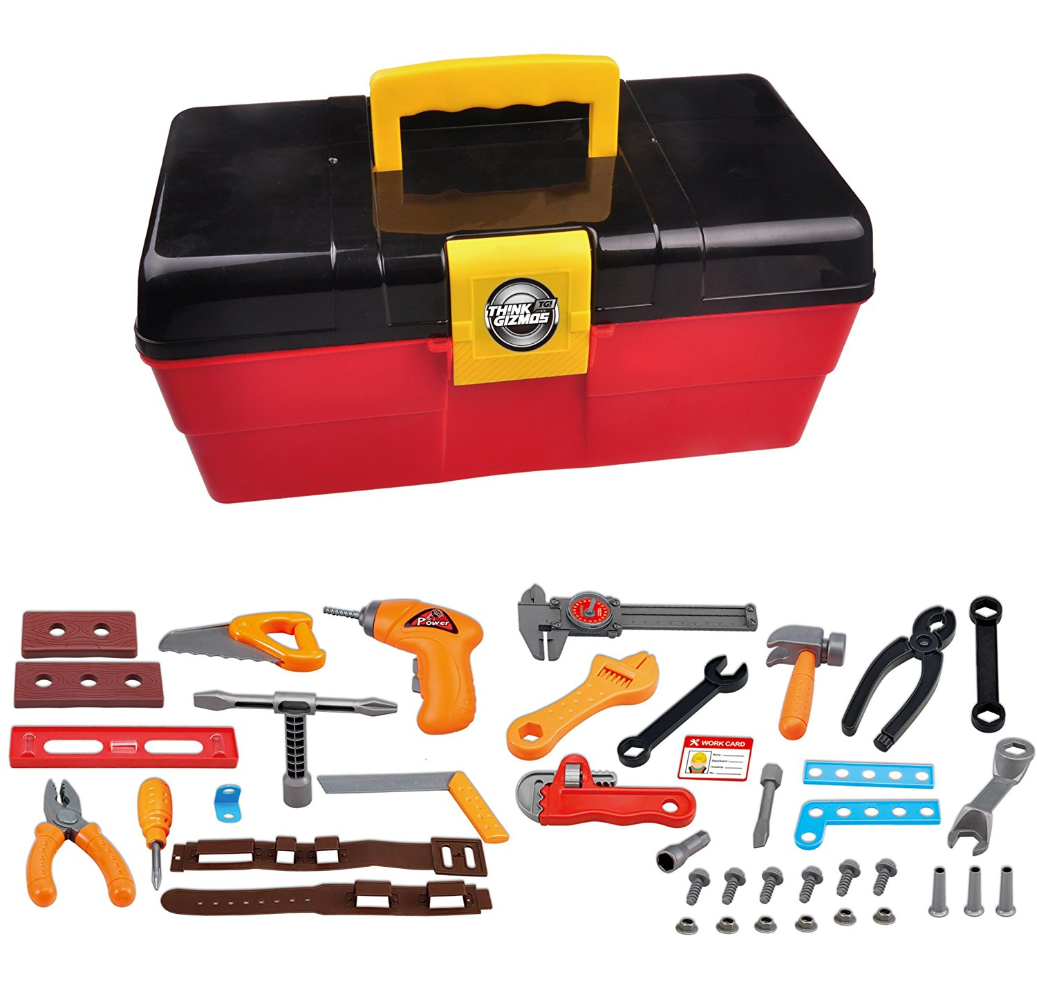 tg668 kids toy tool set with 40 pieces and electric drill uk